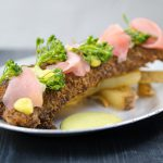 Spiny dogfish with Sichuan pepper and ginger panko